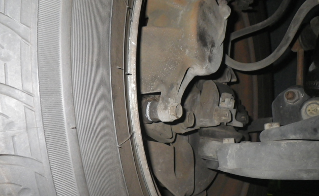 福祉車両・介護車両の故障部位ブレーキパッド修理部位